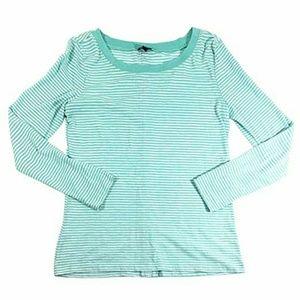 Long sleeved aqua striped cerine top splendid M